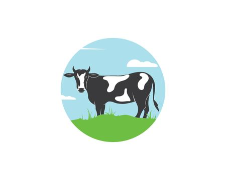 cow logo vector illustration template design