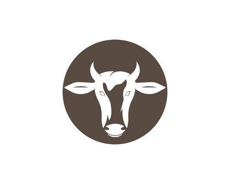 cow logo vector illustration template design