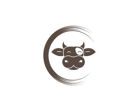 cow logo vector illustration template design  イラスト・ベクター素材