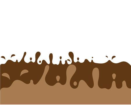 chocolate melted vector illustration Illustration