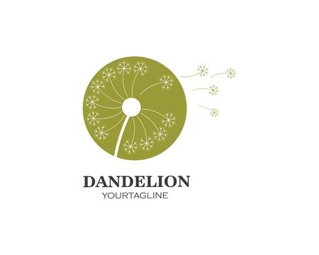 vecteur d'icône logo fleur de pissenlit