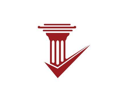 law logo vector template design