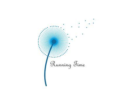 dandelion flower logo icon vector