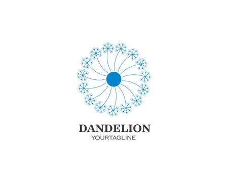 dandelion flower logo icon vector