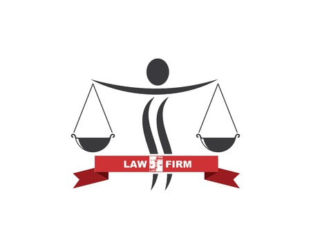 lawyer logo vector template design illustration
