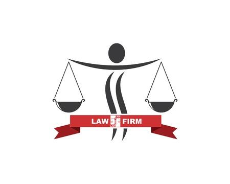 lawyer logo vector template design illustration