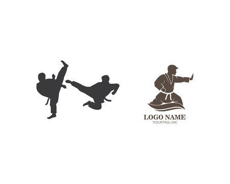 karate,taekwondo kick logo vector illustration template design Logo