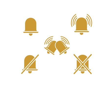 bell notification icon vector template  イラスト・ベクター素材