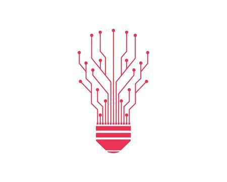 circuit board line bulb concept design illustratio Illustration