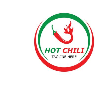 Chili logo vector template design illustration 矢量图像