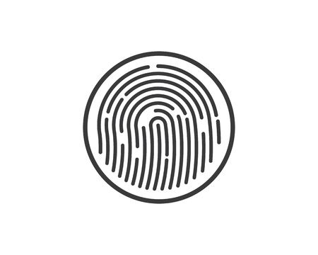 fingerprint illustration vector template design 矢量图片