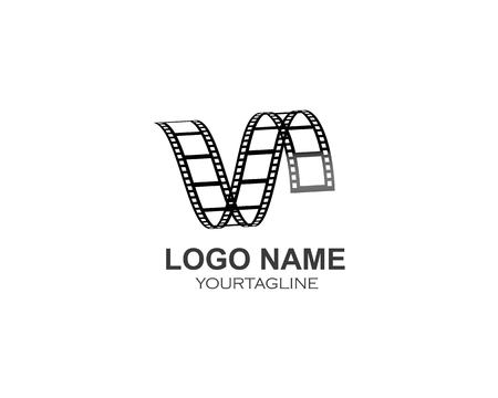 filmstrip Logo Template vector illustration design