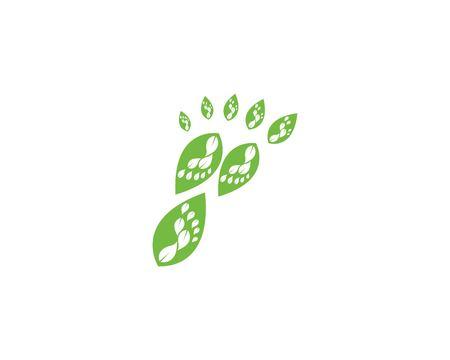 foot ilustration Logo vector for business massage,therapist design Template Archivio Fotografico - 120854743