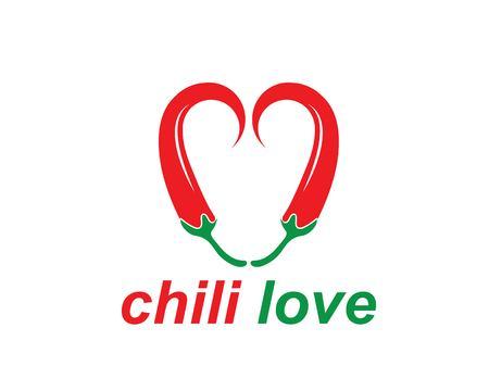 Chili logo vector template design illustration Illustration