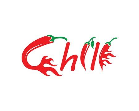 Chili logo vector template design illustration Ilustração