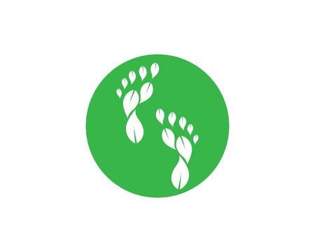 foot ilustration Logo vector for business massage,therapist design Template