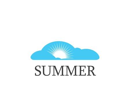 sun logo vector template illustration design Ilustração