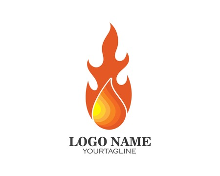 Fire flame Logo Template design