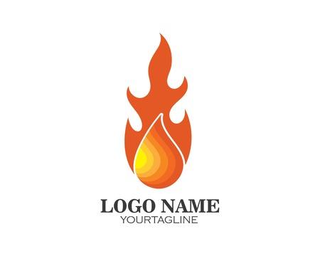 Fire flame Logo Template design