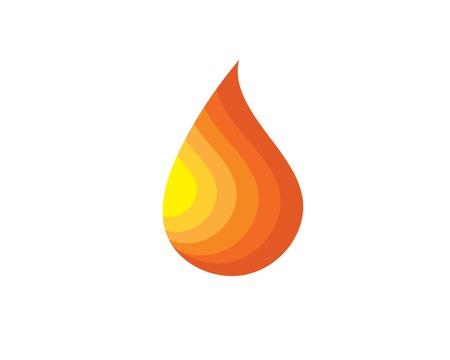 Conception de modèle de logo de flamme de feu Logo