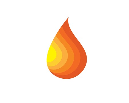 Fire flame Logo Template design Logo