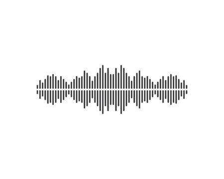 Schallwelle, Puls-Ilustration-Logo-Vektor-Icon-Vorlage