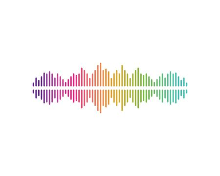 sound wave,pulse ilustration logo vector icon template Ilustrace