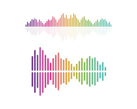 sound wave,pulse ilustration logo vector icon template Vectores