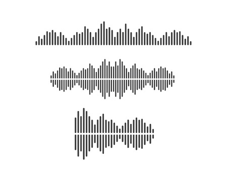 sound wave,pulse ilustration logo vector icon template