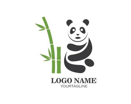 panda ilustration logo vector icon template Standard-Bild - 121102109