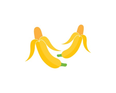 Banana logo vector illustration Stockfoto - 121101954