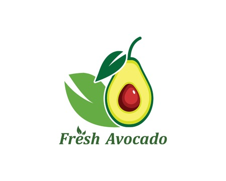 avocado illustration vector template 矢量图像