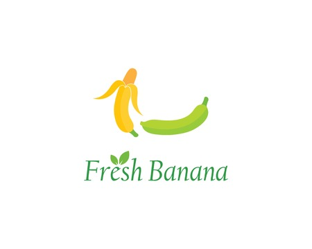 Banana logo vector illustration Stockfoto - 121101758