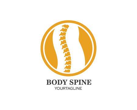 Spine diagnostics symbol logo template vector illustration design Logo