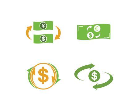 money changer logo icon vector design Logó