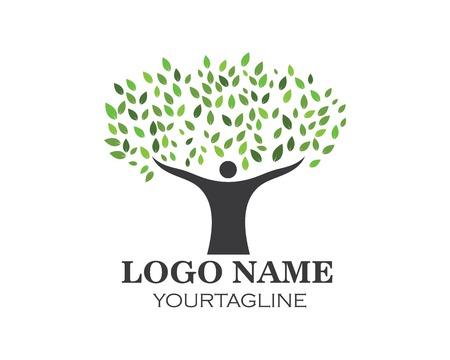 people tree logo vector template Illustration