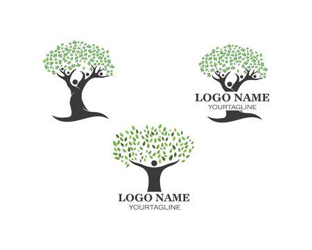 people tree logo vector template Ilustracja