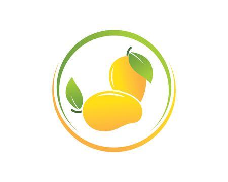 mango vector  illustration logo icon Ilustracja