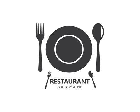 fork,spoon logo vector illustration template  イラスト・ベクター素材