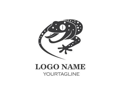 Modèle d'icône vecteur logo Gecko