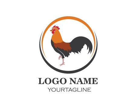 rooster logo vector illustration template design