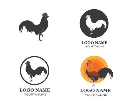 diseño de plantilla de ilustración de vector de logotipo de gallo