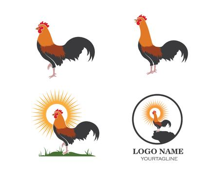 rooster logo vector illustration template design