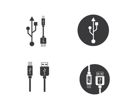 usb icon vector illustration template