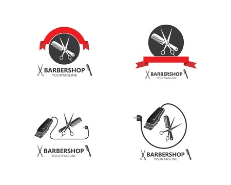 clippers icin vector  for barber business illustration template