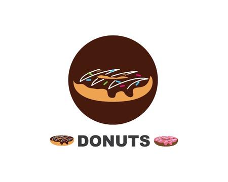 donuts vector,icon,logo illustration design