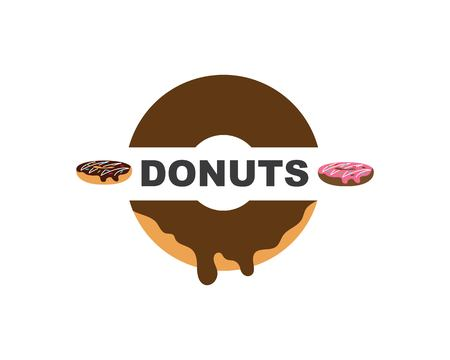 donuts vector,icon,logo illustration design