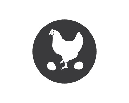 chicken logo icon vector illustration template