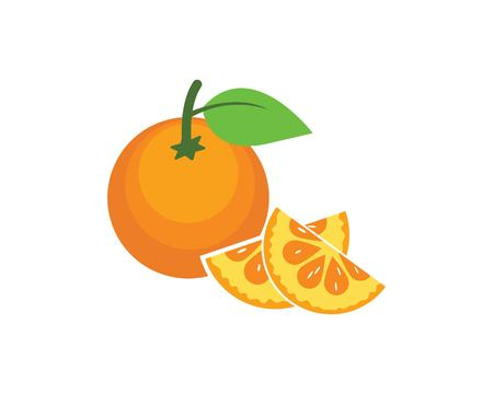 orange fruit icon vector logo illustration template Zdjęcie Seryjne - 122418187