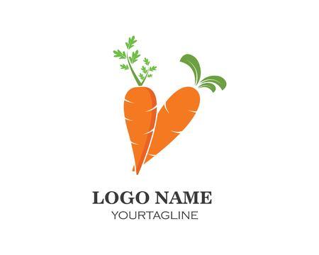 Plantilla de diseño de ilustración de vector de icono de logotipo de zanahoria